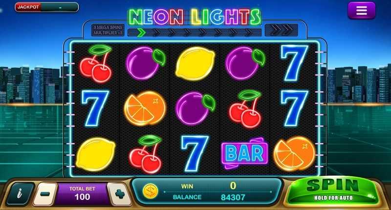 Neon Light slot Epic win