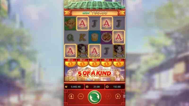 มูลค่าการจ่ายเงินตามสัญลักษณ์เกม Dim Sum Mania